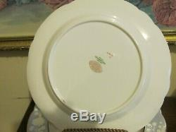 Spode Copeland's China England Set Of 11 Luncheon Plate Embossed Floral Rose