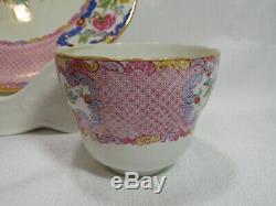 Spode Copelands China England SPODE'S CHINA ROSE 3 Piece Set RARE Pattern