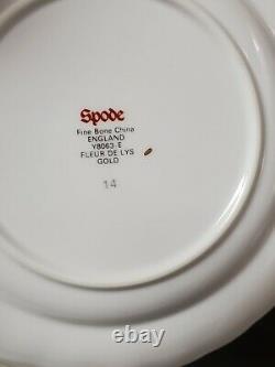 Spode England China FLEUR DE LYS GOLD Bread Plates 6 1/2 SET OF 12