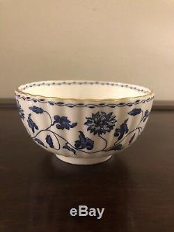 Spode England Fine Bone China Blue Colonel Floral Print Bowl Set Of 6