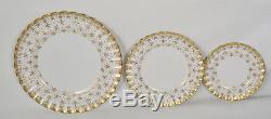 Spode Fleur De Lys Gold 5 Piece Place Setting Y8063 England Bone China