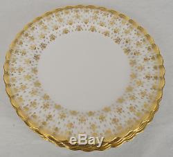 Spode Fleur De Lys Gold 5 Piece Place Setting Y8063 England Bone China Plate