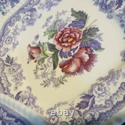 Spode Mayflower Square Luncheon Plates Set of 4 England Bone China Dinnerware