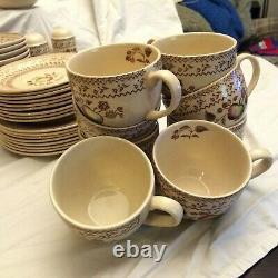 Staffordshire Old Granite china set, fruit sampler (older) pattern, England