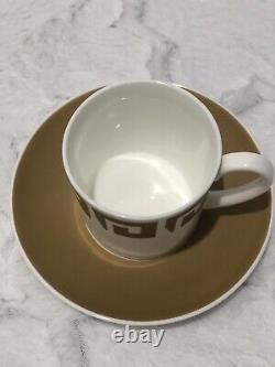 Susie Cooper Wedgwood Tea Pot Set Old Gold Keystone 10 Pc England Bone China