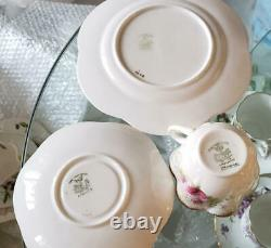 THE FOLEY CHINA Wileman England Trio Set Cup & Saucer & Plate Pink Rose Shelley