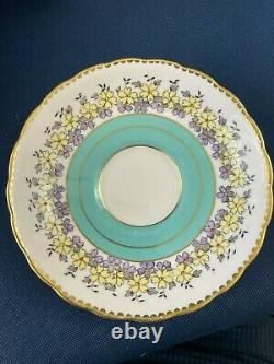 TUSCAN fine bone china luncheon set for 6 made in England c. 1950s blue white