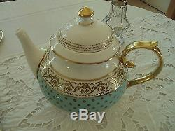 Thomas Goode Versailles Light Green Tea Set China/By Apoint HM the Queen England