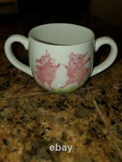 Tiffany & Co. 3 Dancing Pigs Fine Bone China Baby Set Vintage Made In England