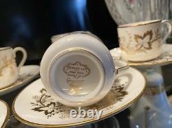 Tiffany & Co. England Bone China Demitasse Cup & Saucer, Grosvenor 8 sets