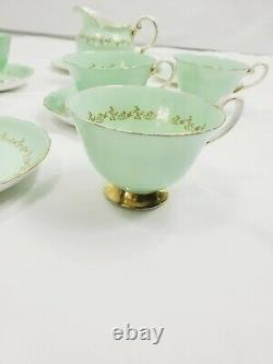 Tuscan Albany 11 Pieces Tea Set Cake Plate Tea Bone China England Mint Color