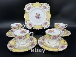 Tuscan Albany 13 Pieces Tea Set Cake Plate Tea Trio Bone China England