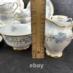Tuscan Bone China England 17 Pcs Tea Serving Set Teacup Dessert Plate Vintage