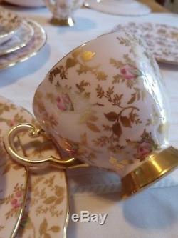 Tuscan Fine Bone China Vintage Sunshine Tea Set England for four 16 pieces