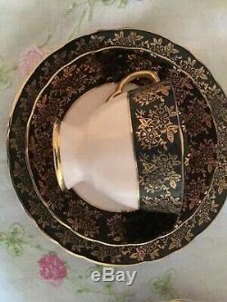 VINTAGE TUSCAN BONE CHINA 21 PIECE TEA SET MADE IN ENGLAND 1920's