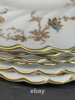 VTG Minton Ancestral Bone China Salad Plates 7.75 IN Set Of 11 England
