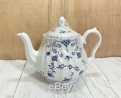VTG Myott Meakin Finlandia China Set Staffordshire England White Blue Design