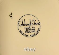 Vintage 1940's England Colclough Yellow Bone China Dessert Plates Set of 10