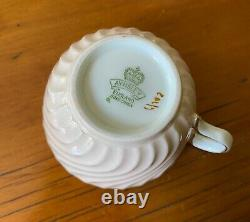 Vintage ANYSLEY of England Fine Bone China Breakfast Set Pink Swirl & Floral