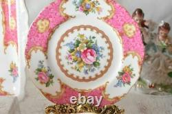 Vintage Art Porcelain Royal Albert Lady Carlyle Tea Set Bone China England For 2