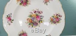Vintage COALPORT Bone China Made In England Set of 12 Dinner Plates Fragrance