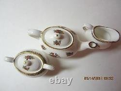 Vintage COALPORT Miniature Tea Set- Ming Rose Fine Bone China-England