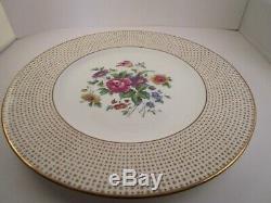 Vintage Cauldon Bone China England Reizenstein Flowers Set of 6 Dinner Plates B
