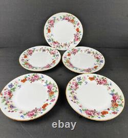 Vintage Copeland Spode Grosvenor England Fine Bone China Floral Luncheon Set