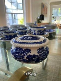 Vintage Copeland Spode's Tower England China Set 62 Piece Great Condition