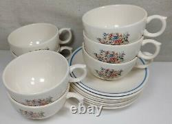 Vintage Dylan's Grove by Ralph Lauren Wedgwood China Set of 7 Tea Cup Saucer Set