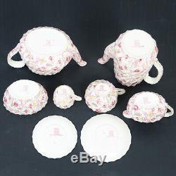 Vintage England Copeland Spode Rosebud Chintz China Dinnerware Set 124 Piceces