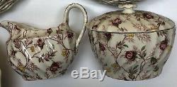 Vintage England Copeland Spode Rosebud Chintz China Dinnerware Set (30) Piceces