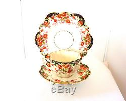 Vintage England Crown Fine China, Mayer & Sherratt Trio Tea Set 1890-1921