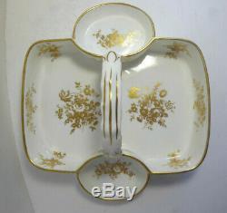 Vintage Hammersley & Co Bone China England Tea Basket Set Retailed Tiffany & Co