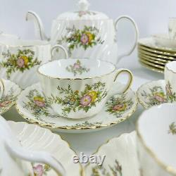Vintage Mintons China England York Teapot Tea Cups Plates Set Lot of 53 Pieces