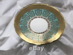 Vintage Ornate Royal Stafford Bone China England Pedestal Tea Cup and Saucer Set