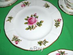 Vintage Rare 91 Pc Set Adderley Fine Bone China Carlton Pink Roses England NICE