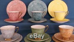 Vintage Royal Albert Gossamer Harlequin China Tea Set Wedding Made In England