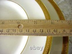 Vintage Royal Doulton Bone China Royal Gold Dinnerware Set (16 Pcs.) England
