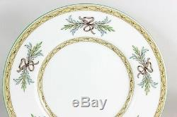 Vintage Set 6 Dinner Plates Minton Bone China England Beverley B1310 Aqua Green