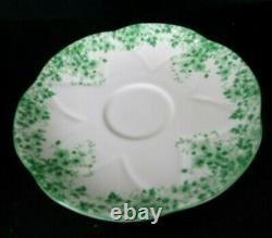 Vintage Shelley Dainty Green Teacup and Saucer Set Made in England Fine China