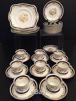 Vintage Tuscan China bone china dessert set 1940's 1950's England