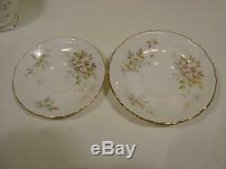 Vtg 1982 ROYAL ALBERT HAWORTH Bone China Dinnerware Set England 40pc1st Quality