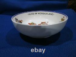 Vtg Hammersley Alice In Wonderland Child 3 Piece Set Bone China 1930-'59 England