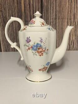 Vtg Hammersley Tea Set Bone China Gold Trim England Cups Saucers Teapot & More