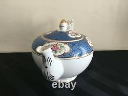 Vtg RADFORDS BONE CHINA FENTON COBALT BLUE 28 PIECES TEA SET TEAPOT TEACUP