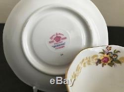 Vtg ROYAL ALBERT BONE CHINA ENGLAND SERENA 5 PIECES PLACE SETTING PINK ROSES