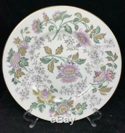 WEDGWOOD Avon Lavender BONE CHINA England 11 Dinner Plates Set of 8 Gold Trim