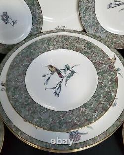 WEDGWOOD Bone China HUMMING BIRDS 20 Piece Dinner Set Made in England