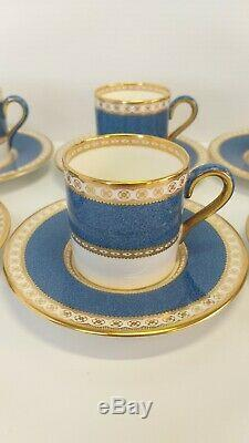 WEDGWOOD Bone china made in England Cup and Saucers Set of Six never used